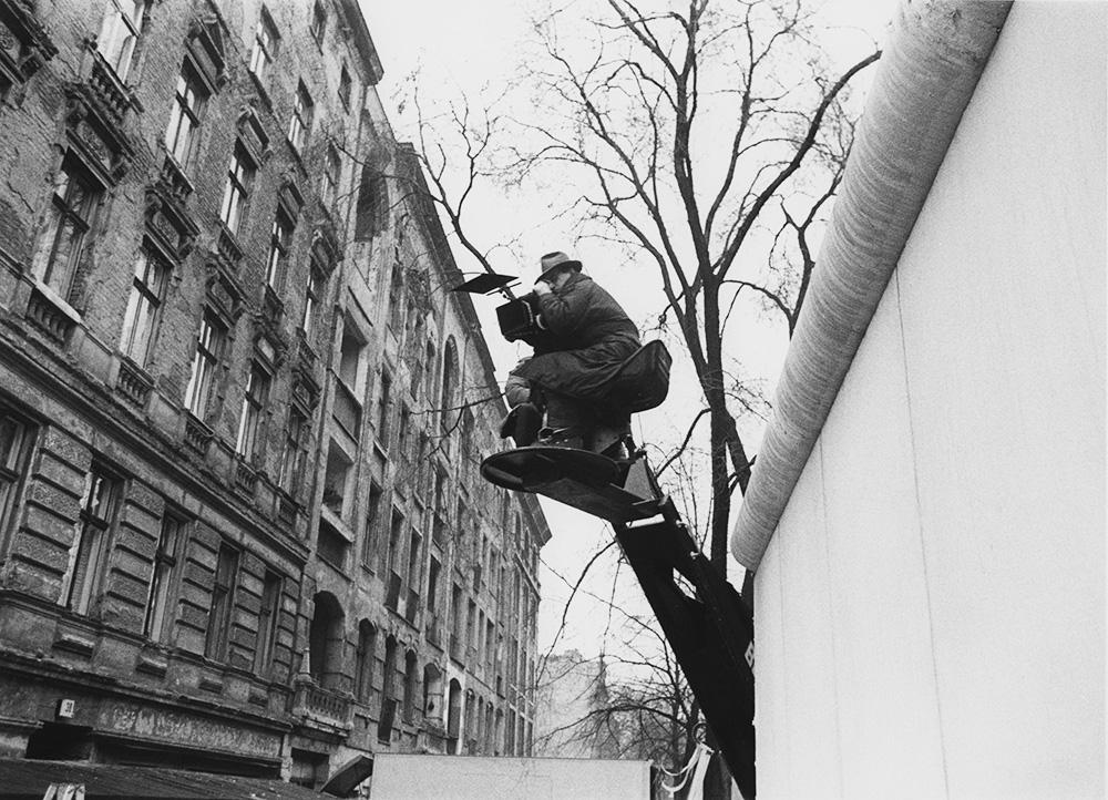 """Dreharbeiten zu """"Der Himmel über Berlin"""" (Wim Wenders Stiftung)"""