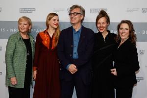 NRW-Ministerpräsidentin Hannelore Kraft, Laura Schmidt (Wim Wenders Stiftung), Wim Wenders, Donata Wenders, Petra Müller (FMS) © Kurt Krieger / Film- und Medienstiftung NRW